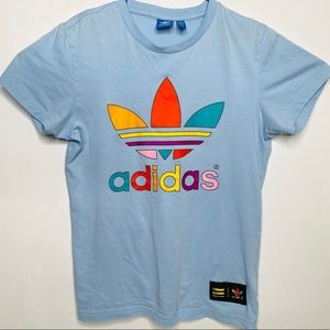 Adidas Pharrell Williams Colorful Graphic Tee Sz-S